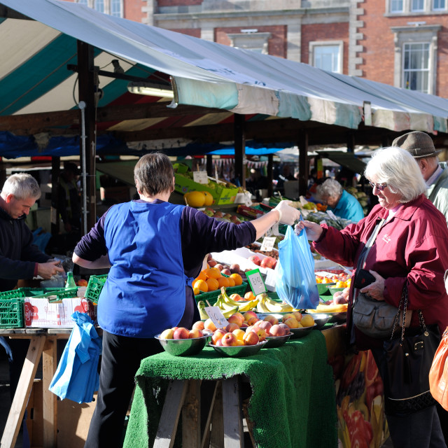 """""""Chesterfield Market Derbyshire ."""" stock image"""