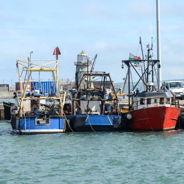"""Welsh Fishing Boats"" stock image"