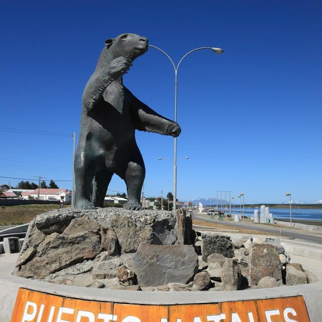 """Milodon, Puerto Natales"" stock image"