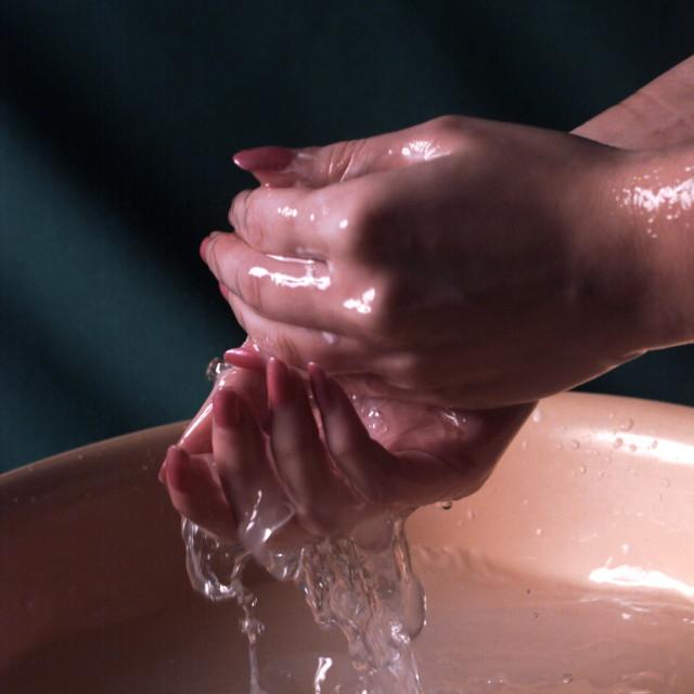 """I_Handwash"" stock image"
