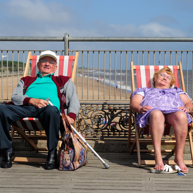 """Bank Holiday Monday,Weather.Skegness.UK."" stock image"