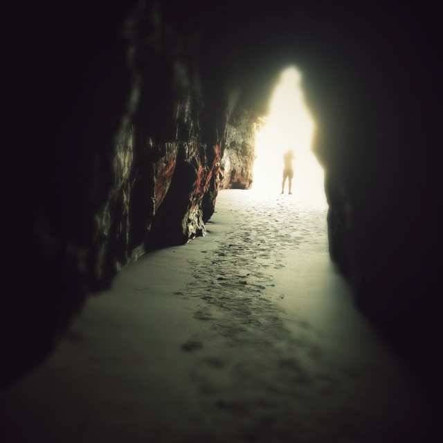 """""""The Cave"""" stock image"""