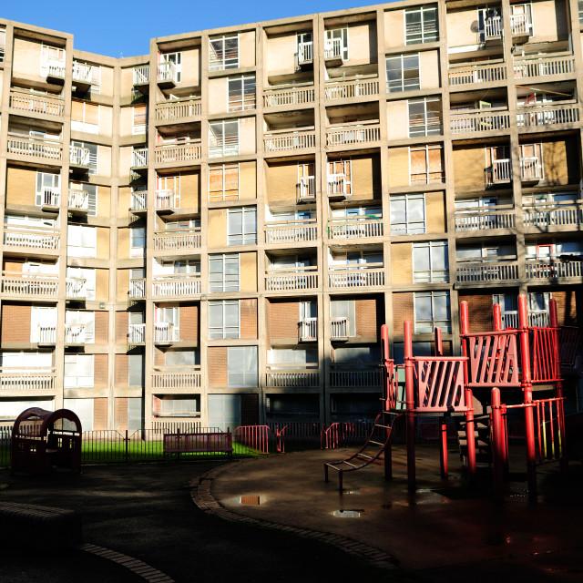 """Park Hill,Sheffield Inner City Flats."" stock image"