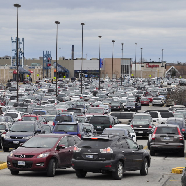 """""""Mall Parking Lot"""" stock image"""