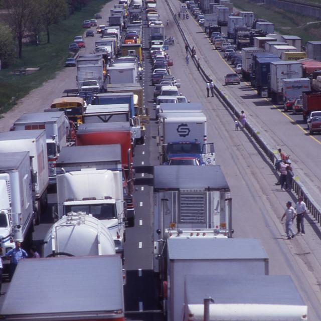 """Highway Traffic"" stock image"