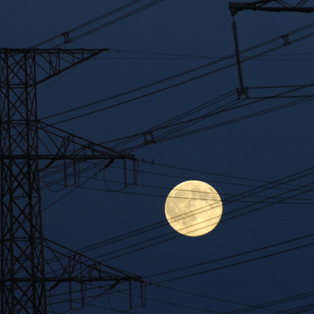 """""""Moon and Hydro"""" stock image"""