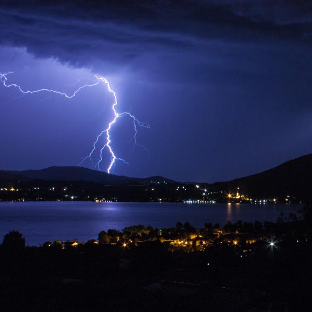 """""""Lakeside Lightning"""" stock image"""