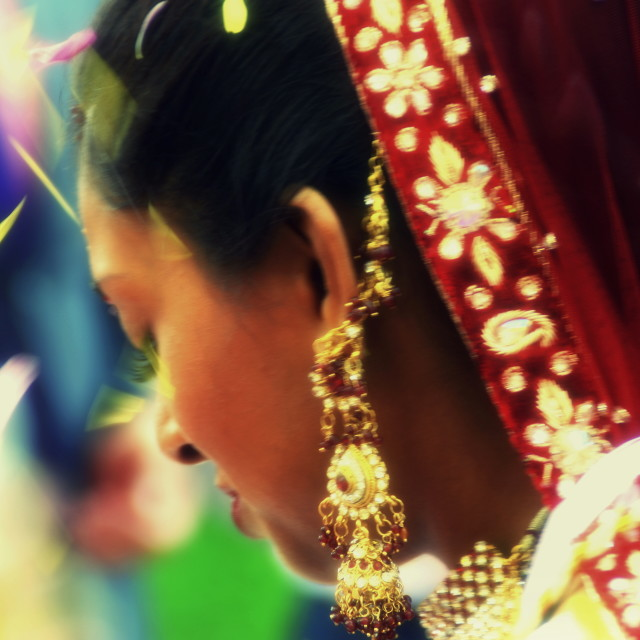 """Indian Bride"" stock image"