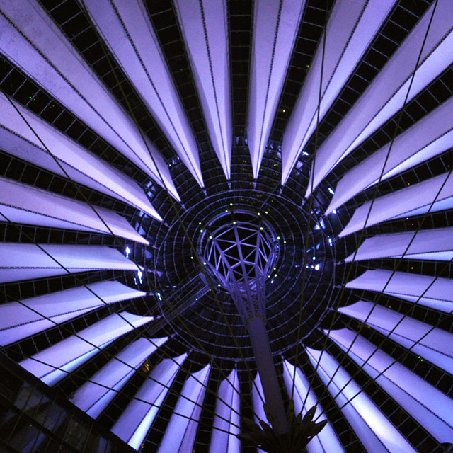 """""""Sony centre roof Berlin"""" stock image"""