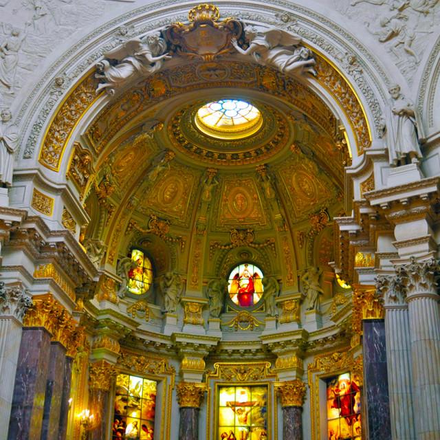 """Berliner Dom - Berlin cathedral inside"" stock image"