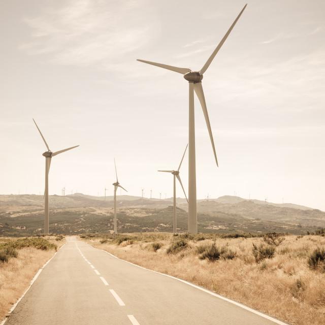 """""""Wind turbines"""" stock image"""