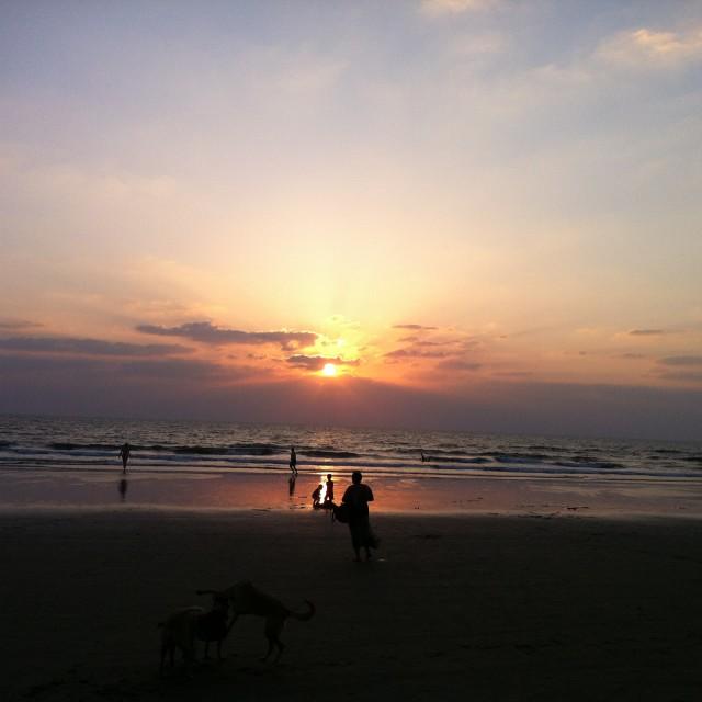 """Goa Sun burst"" stock image"