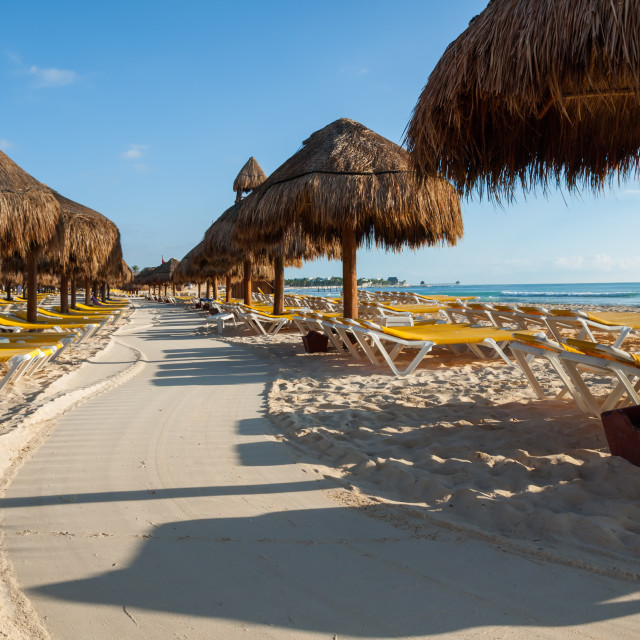 """""""Lonely Beach in Cancun"""" stock image"""