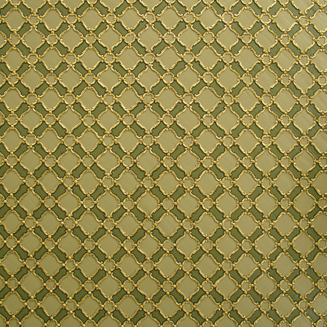 """""""Abstract green and golden ceiling pattern"""" stock image"""