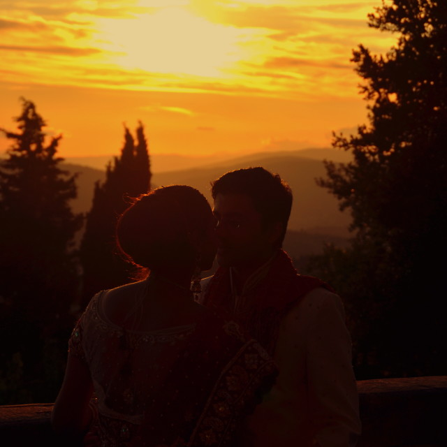 """Love at Sunset"" stock image"