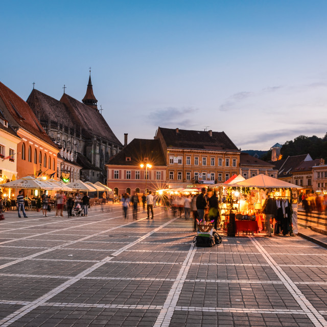 """""""Brasov, Transylvania, Romania"""" stock image"""