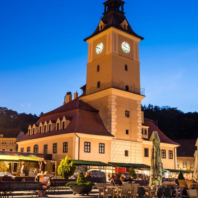 """Council House, Brasov, Transylvania, Romania"" stock image"