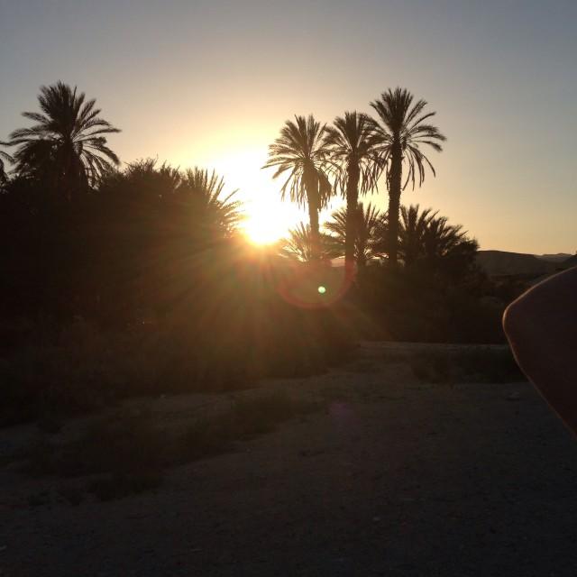 """""""Desert sunset"""" stock image"""
