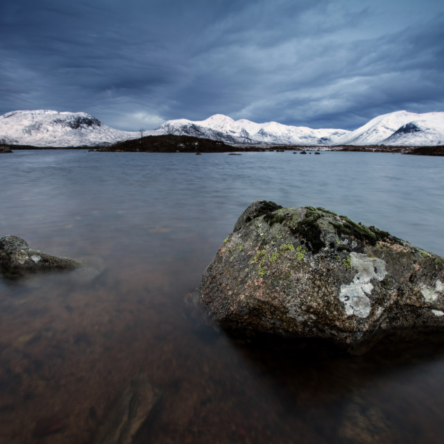 """Winter on Rannoch Moor"" stock image"