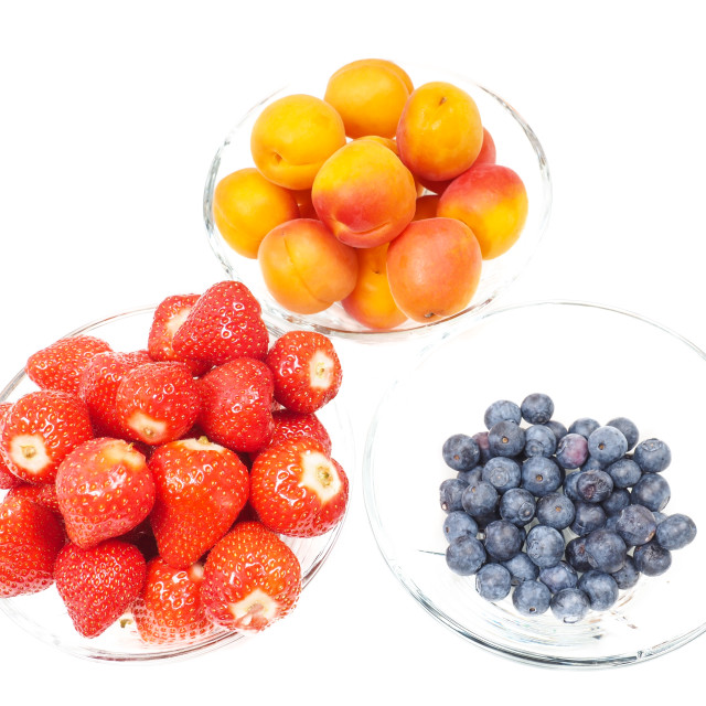"""""""Apricot, blueberry and strawberry"""" stock image"""