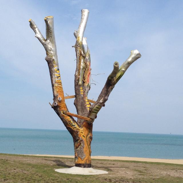 """31st beach Chicago, IL"" stock image"