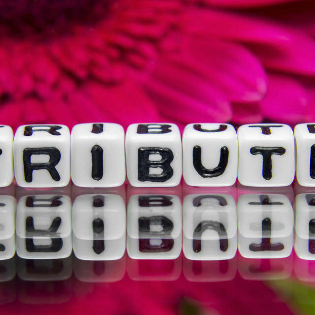 """""""Tribute big text message"""" stock image"""