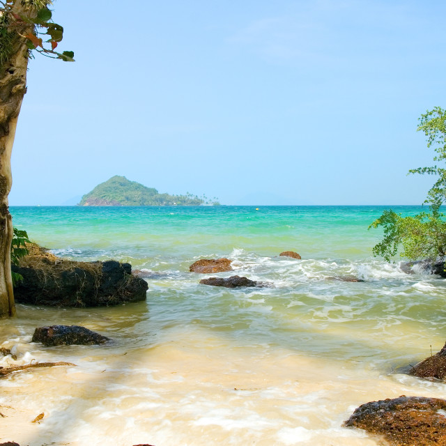 """Tropical Island Shore"" stock image"