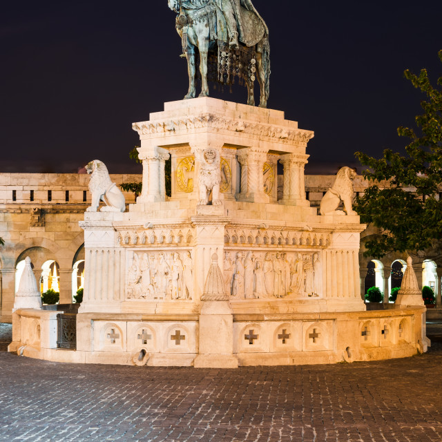 """St. Stephen Statue, Budapest"" stock image"