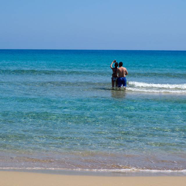 """Couple in the sea"" stock image"