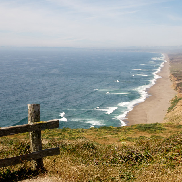 """""""View of Pt. Reyes sea shore, Northern California"""" stock image"""
