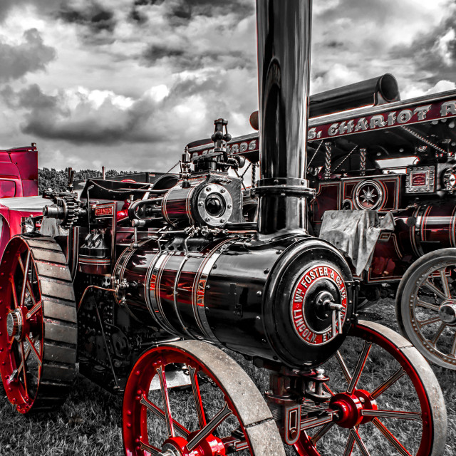 """""""Steam Traction Engine"""" stock image"""