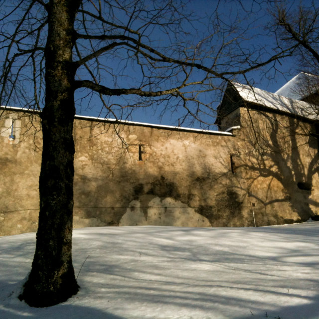 """Gruyères castle, Swiss"" stock image"