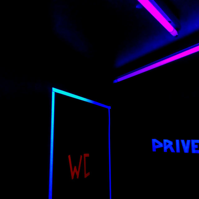 """""""Neon art in the toilets"""" stock image"""