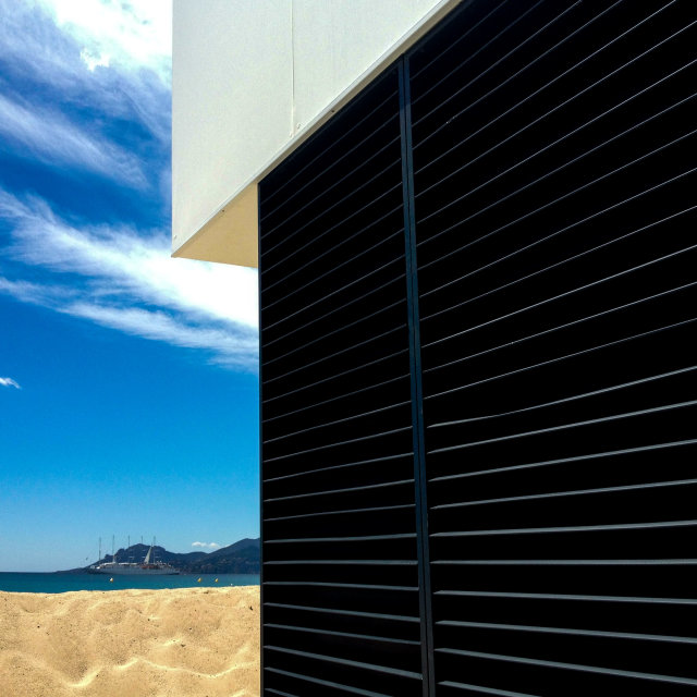 """Nespresso beach during Cannes Film Festival."" stock image"