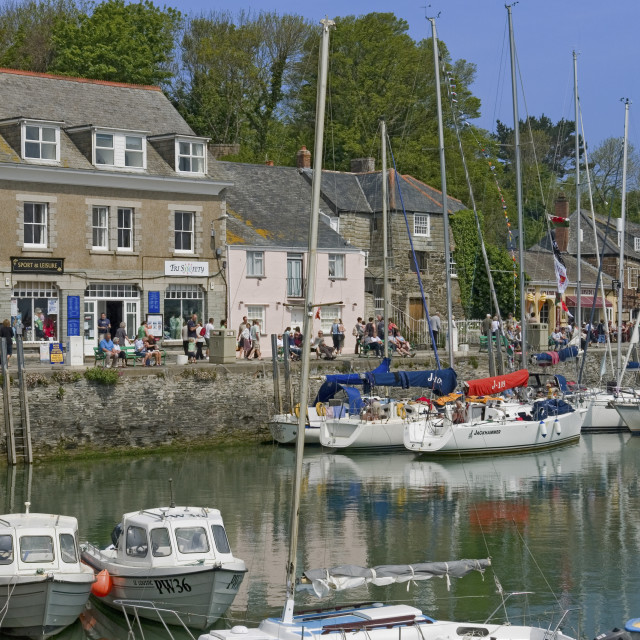 """""""Padstow Harbour"""" stock image"""