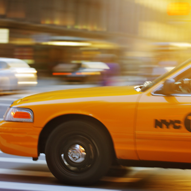 """New York Cab"" stock image"
