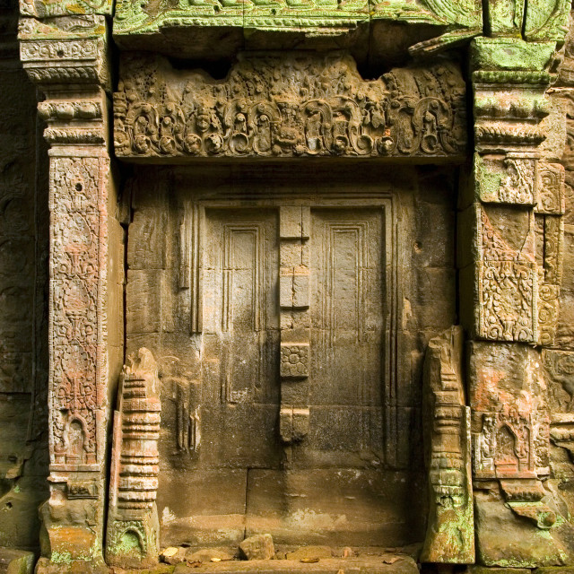 """""""Blind Doors to the Ancient Temple"""" stock image"""
