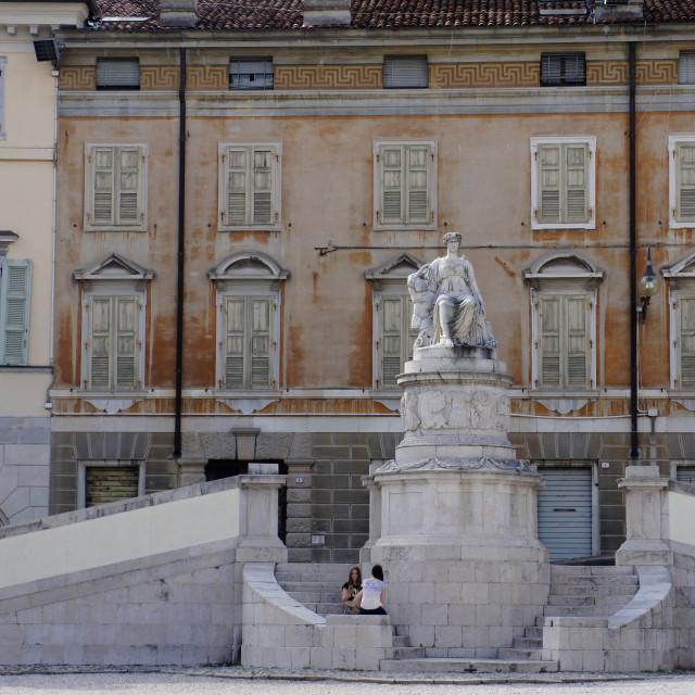 """Piazza Liberta, Udine, Italy"" stock image"