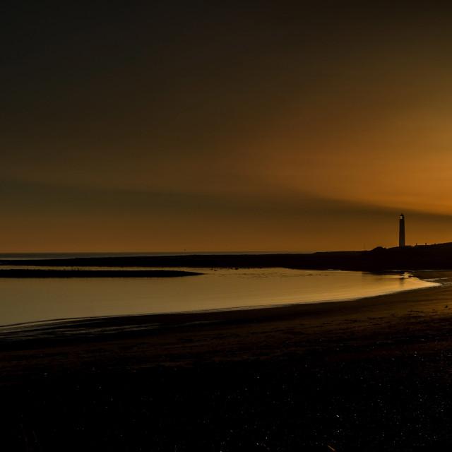 """""""Lighthouse Sunrise"""" stock image"""