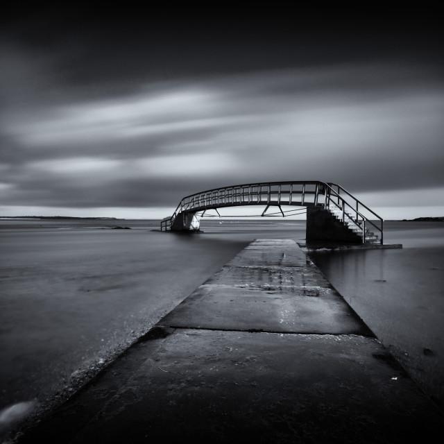 """Bridge to No Where"" stock image"