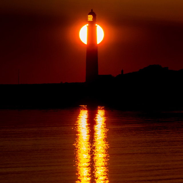 """Lighthouse Sunrise"" stock image"