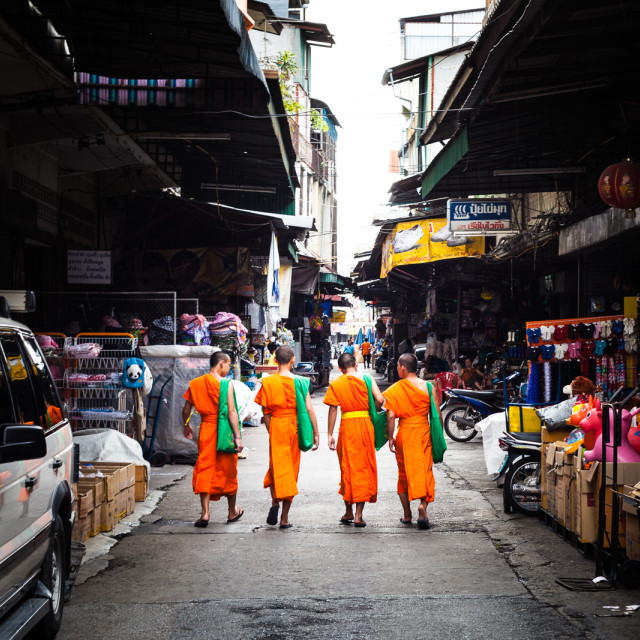 """Monks Shopping"" stock image"