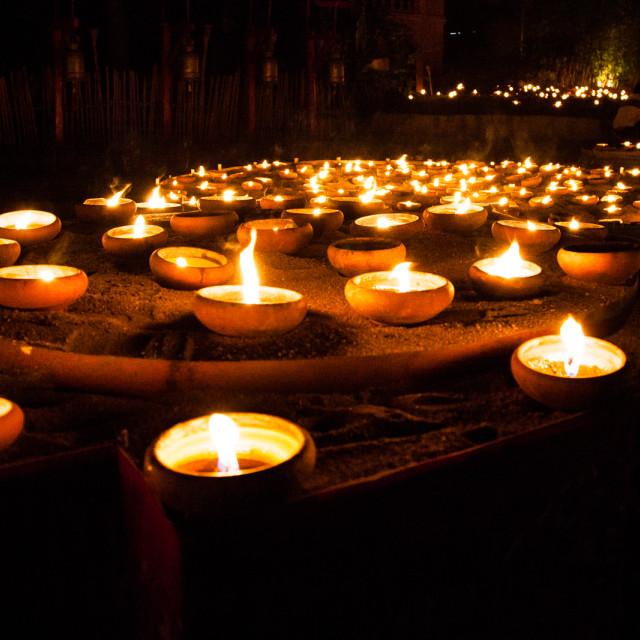 """""""Bucha Candles"""" stock image"""