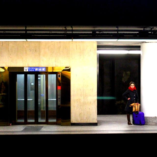 """Brussels underground"" stock image"