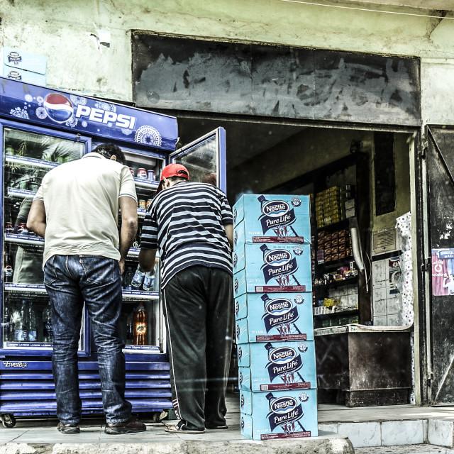 """Egyptian shop"" stock image"
