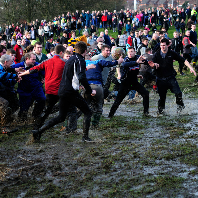 """Ashbourne Royal Shrovetide Football ,UK."" stock image"