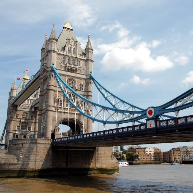 """Tower bridge London"" stock image"