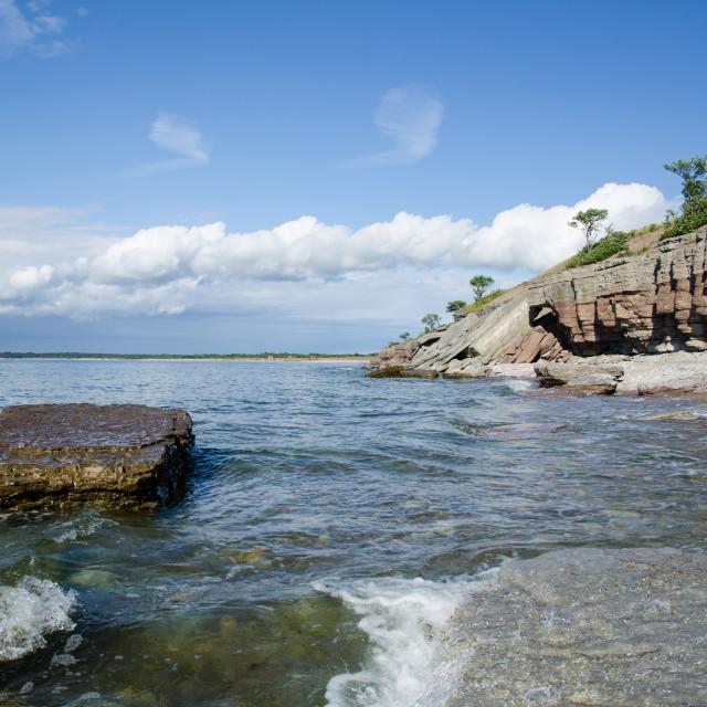 """Island Coast with Cliffs"" stock image"