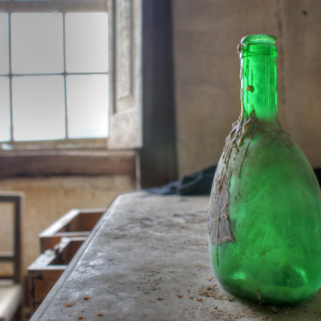"""Forgotten Bottles"" stock image"