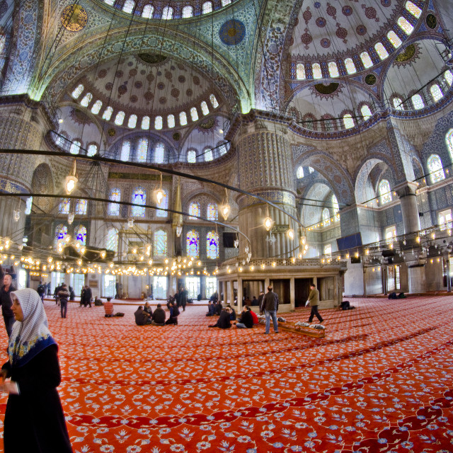 """Interior of Blue Mosque"" stock image"